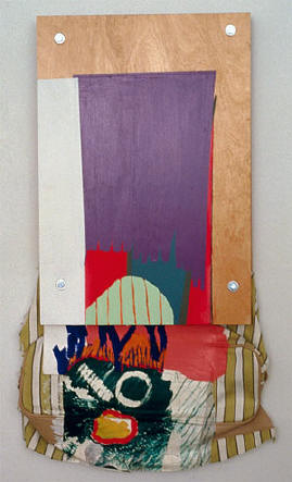 1991Paint, plywood, cloth, paper, litho print on paper, hardware 32 x 17 in 81.3 x 43.2 cm